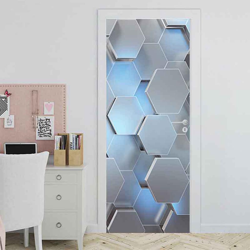 Indexbild 4 - PVC 3D Türaufkleber DIY Selbstklebende Wandbilder Abziehbilder Wrap Home Decor