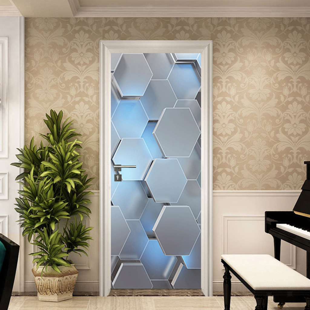 miniatura 8 - 3D Porta Adesivi Murali Decalcomanie Autoadesivo Adesivo Murale Carta Da