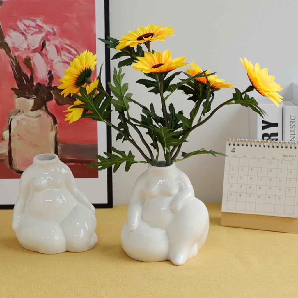 Indexbild 8 - Keramikkörper Blumenvase Blumentöpfe Nordic Boho Minimalistische