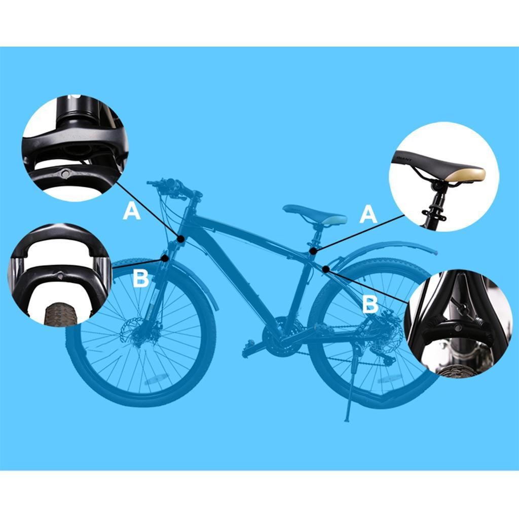 Road-Mountain-Bike-Front-Rear-Mud-Guards-Bicycle-Tire-Mudguard-Fenders-Set miniature 8