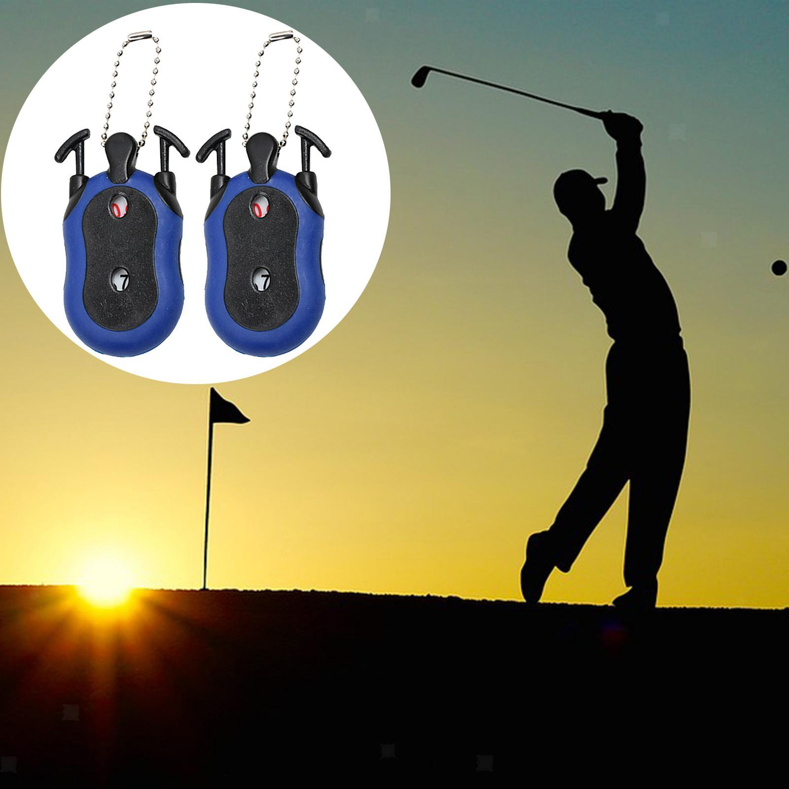 Indexbild 12 - 2 Stück Golf Score Zähler 2-in-1 Double Dial Stroke Putt Scorer mit