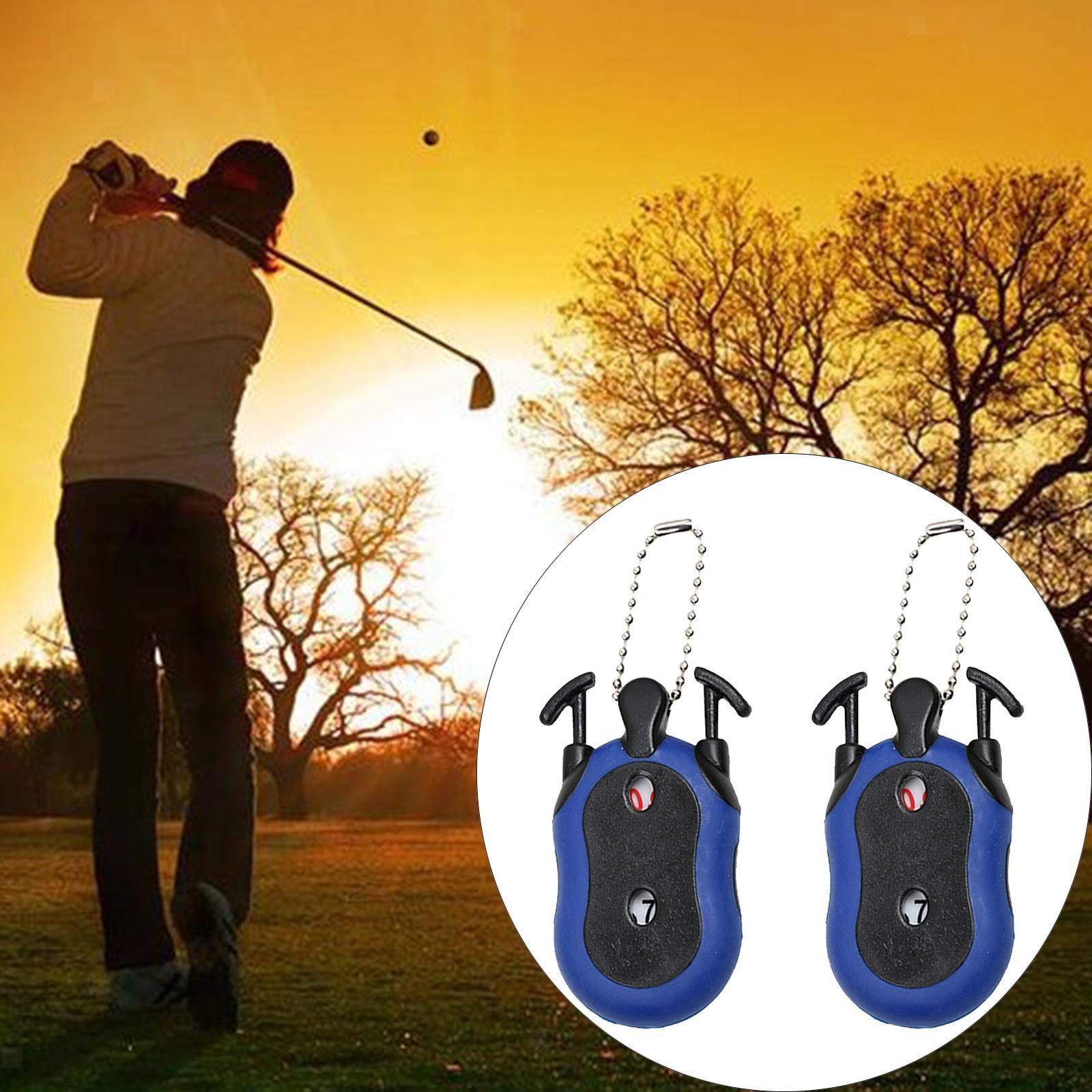 Indexbild 7 - 2 Stück Golf Score Zähler 2-in-1 Double Dial Stroke Putt Scorer mit