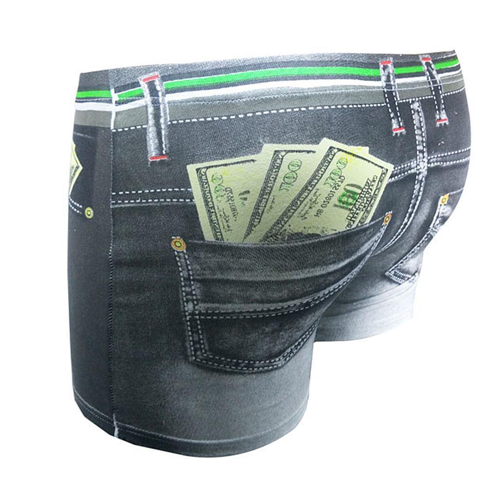 New-Men-Denim-Printing-s-Trunks-Underpants-Briefs-Shorts-Cotton-Underwear thumbnail 3