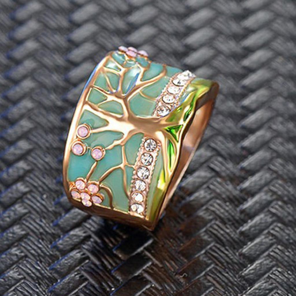 Bague-Sculpte-Rimous-Ovale-Turquoise-Tibetaine-Anneau-Noir-pour-Femmes miniature 3