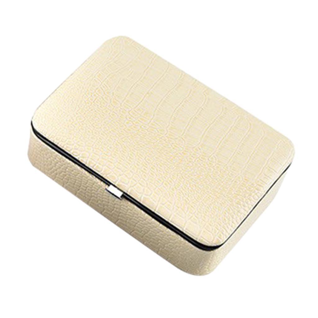 Boite-a-Bijoux-Organisateur-a-Bijoux-Portable-et-Leger-Coffre-a-Affichage miniature 6
