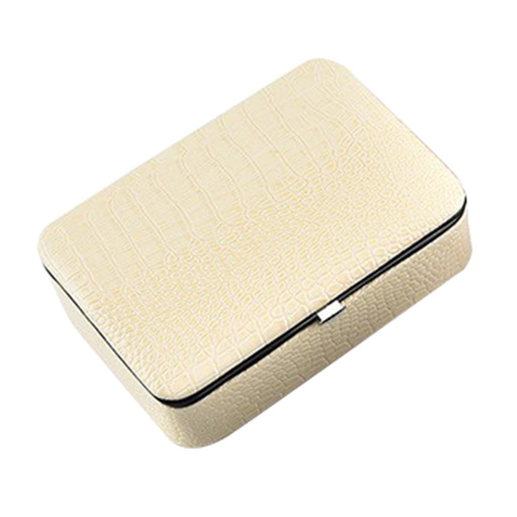 Boite-a-Bijoux-Organisateur-a-Bijoux-Portable-et-Leger-Coffre-a-Affichage miniature 5