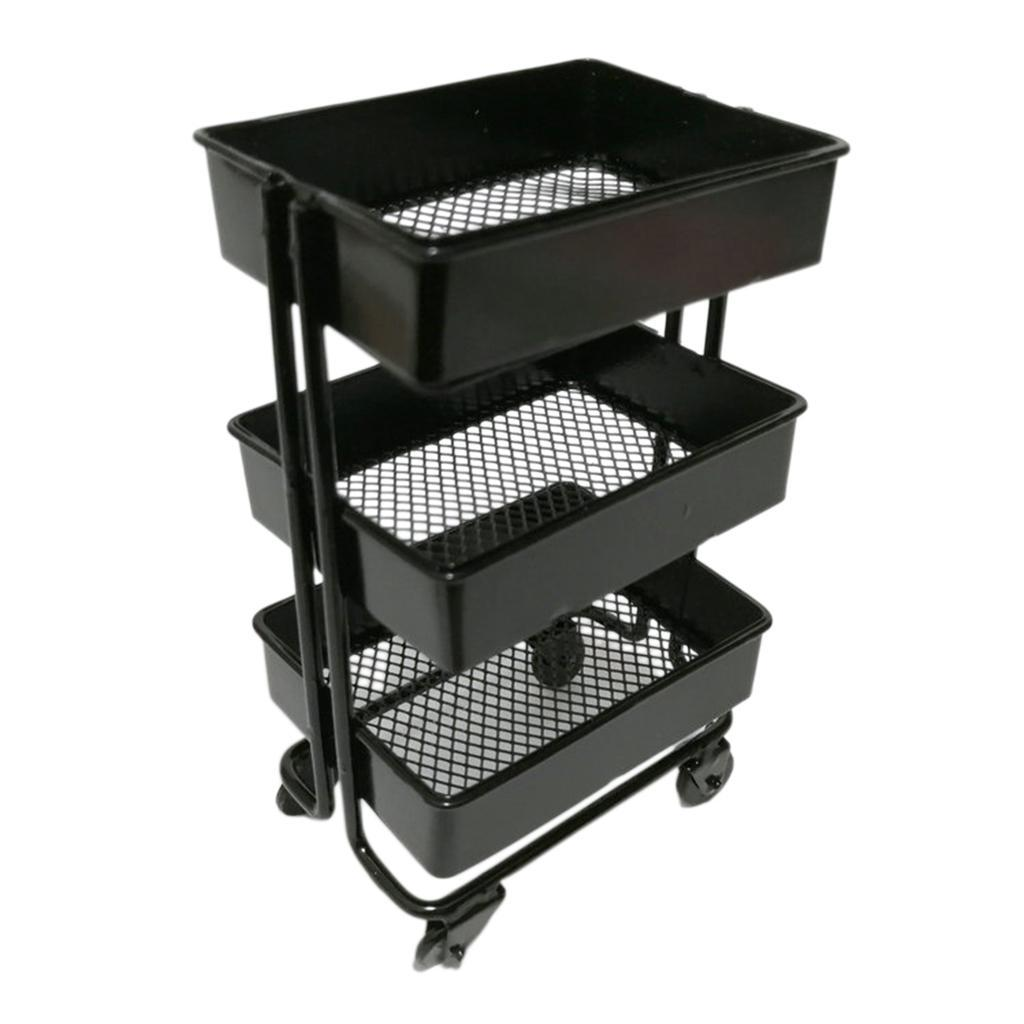 thumbnail 6 - 1:12 Miniature Metal Storage Shelf Display Rack Dollhouse Furniture Decor Accs