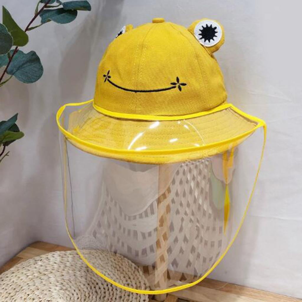 Baby-Transparent-Face-Shield-Anti-Spitting-Hat-Dust-Sun-Protective-Fishman-Caps thumbnail 7