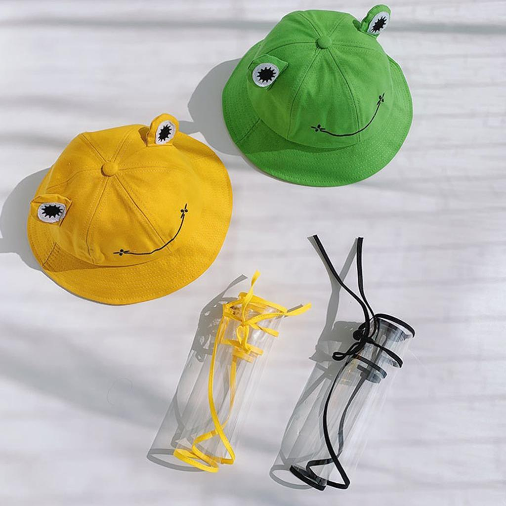 Baby-Transparent-Face-Shield-Anti-Spitting-Hat-Dust-Sun-Protective-Fishman-Caps thumbnail 6