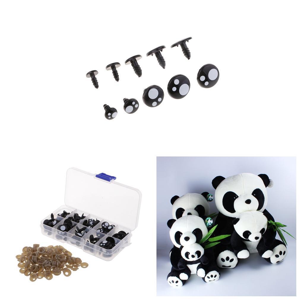 100x-Kunststoff-Sicherheitsaugen-Fuer-Teddybaer-Puppen-Spielzeug-Tier-Puppe Indexbild 5