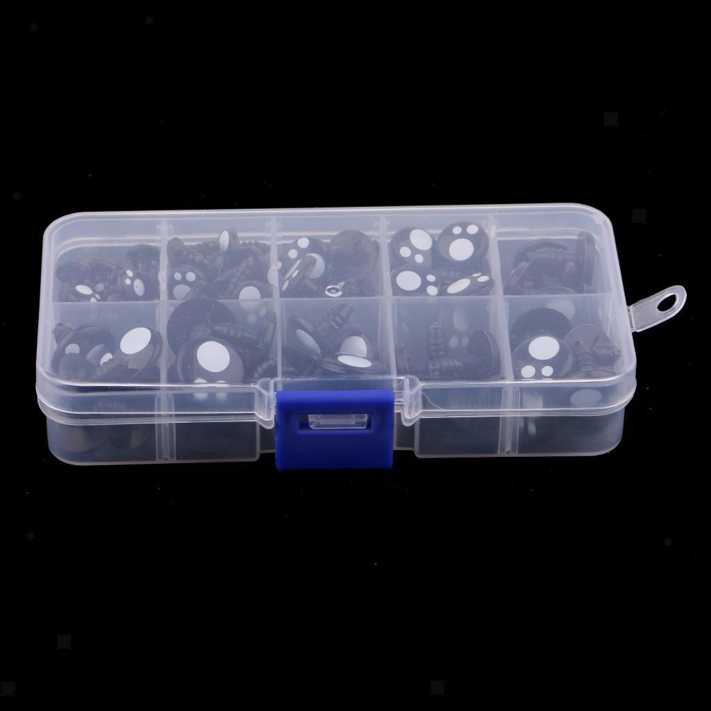 100x-Kunststoff-Sicherheitsaugen-Fuer-Teddybaer-Puppen-Spielzeug-Tier-Puppe Indexbild 8