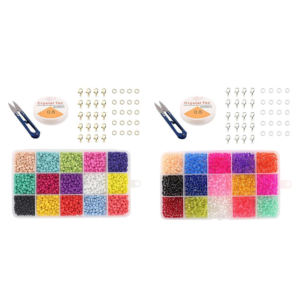 Training-Colorful-Children-Glass-Jewelry-Making-DIY-Bead-Kit-Bracelet-Crafts miniature 4