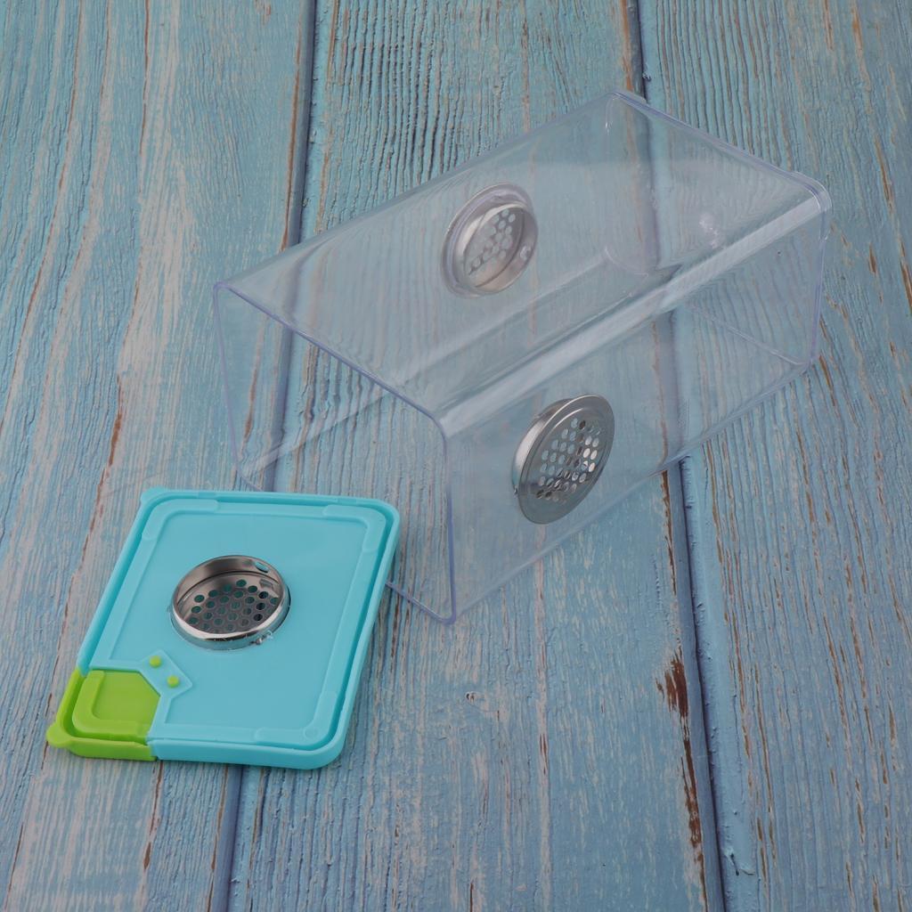 Scatola-Di-Alimentazione-In-Plastica-Trasparente-Per-Riproduzione-Di-Rettili-E miniatura 8