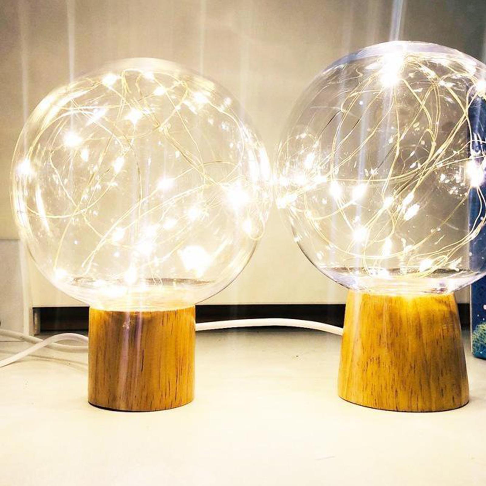 Lampada-da-tavolo-con-luce-notturna-in-cristallo-USB-Ricarica-telecomando miniatura 4