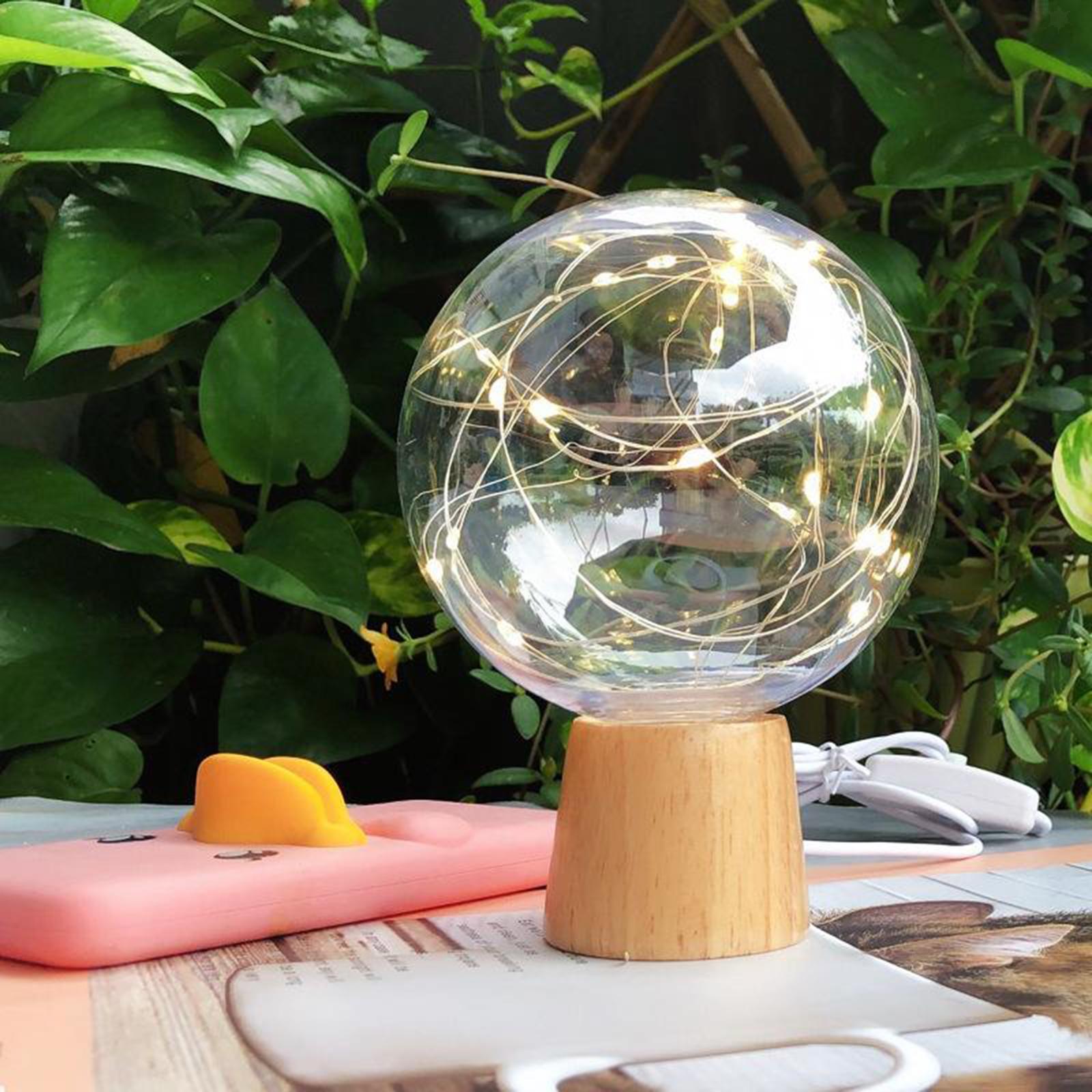 Lampada-da-tavolo-con-luce-notturna-in-cristallo-USB-Ricarica-telecomando miniatura 3