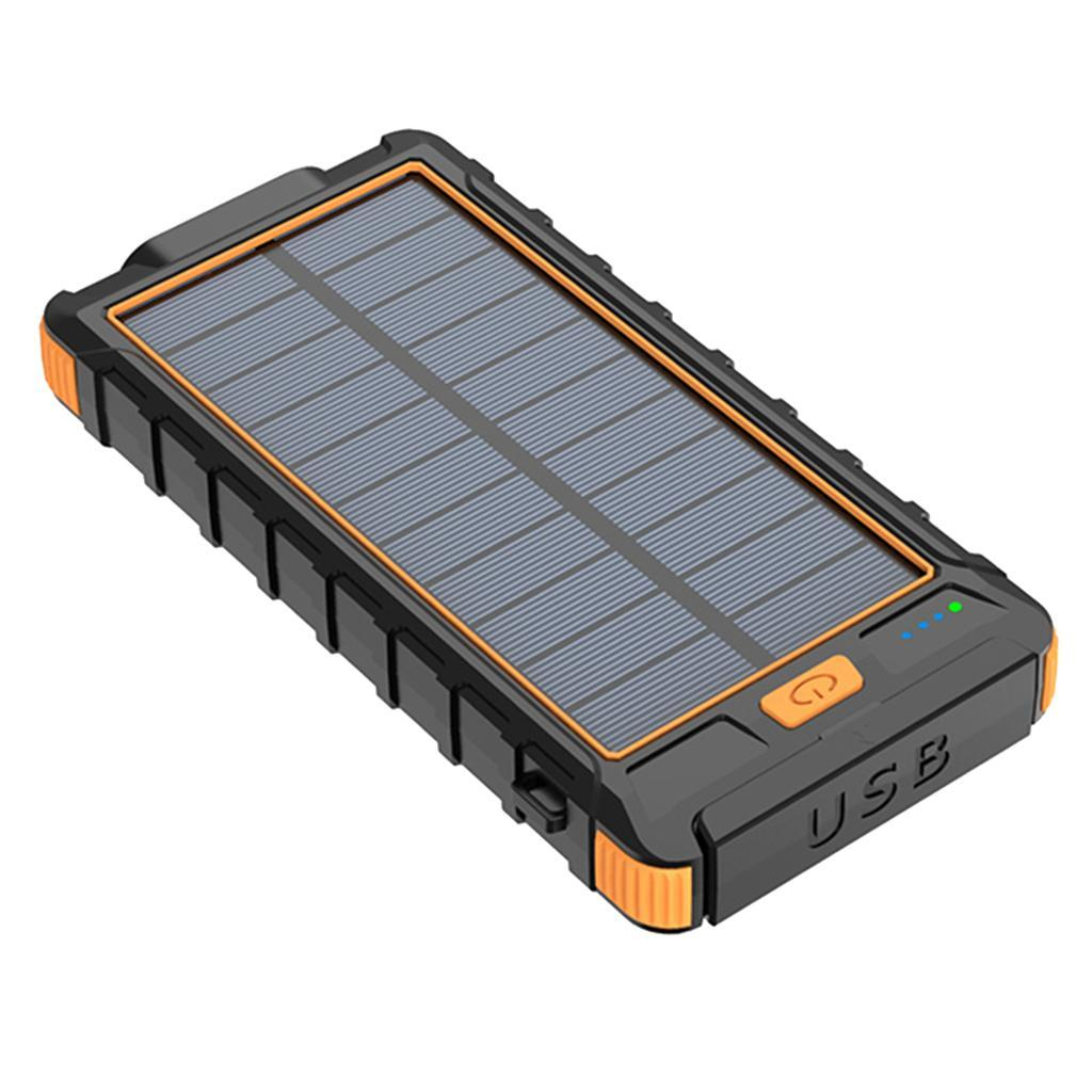 miniatura 6 - 10000mAh Solar Power Bank Cargador de batería de prueba de puerto USB 2