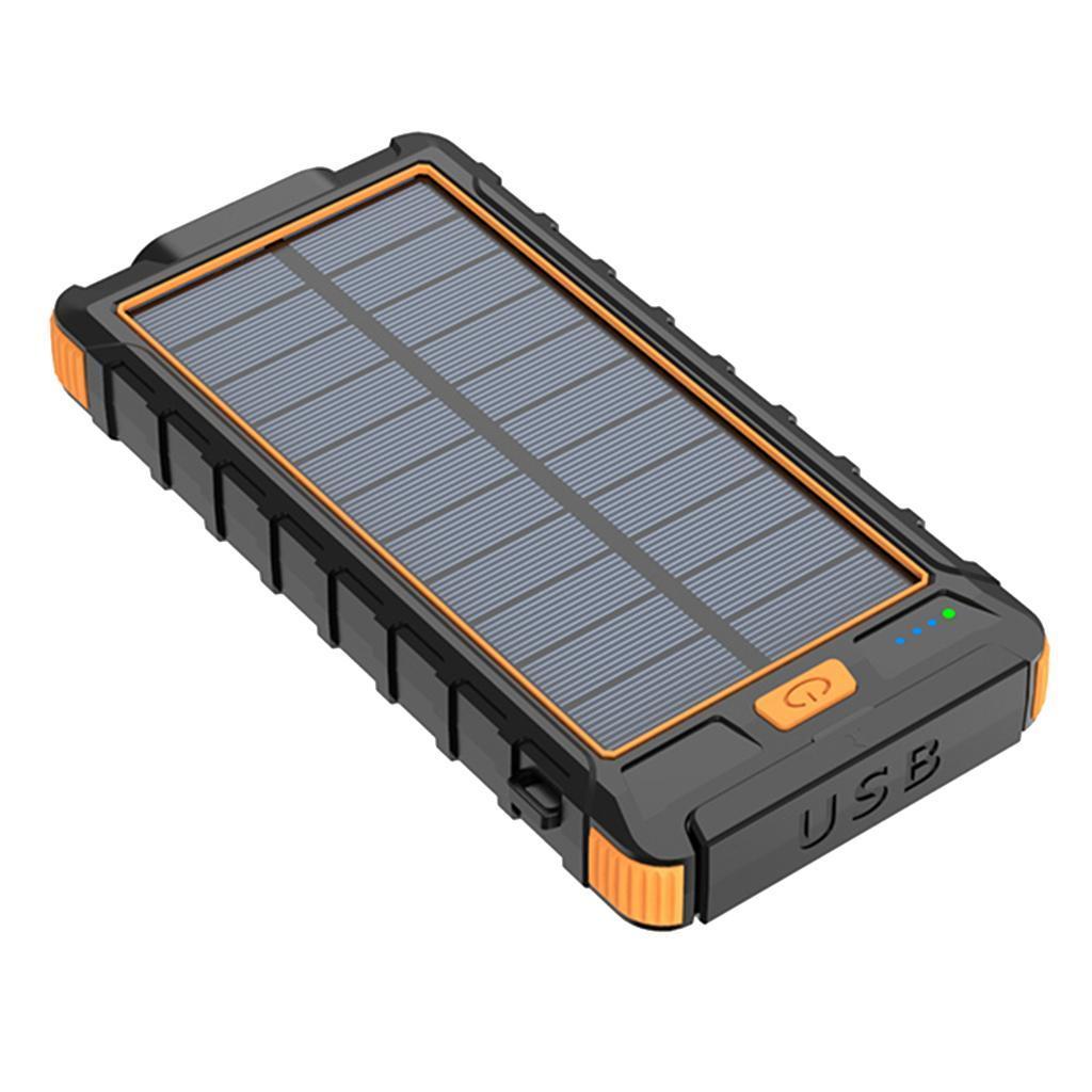 miniatura 7 - 10000mAh Solar Power Bank Cargador de batería de prueba de puerto USB 2