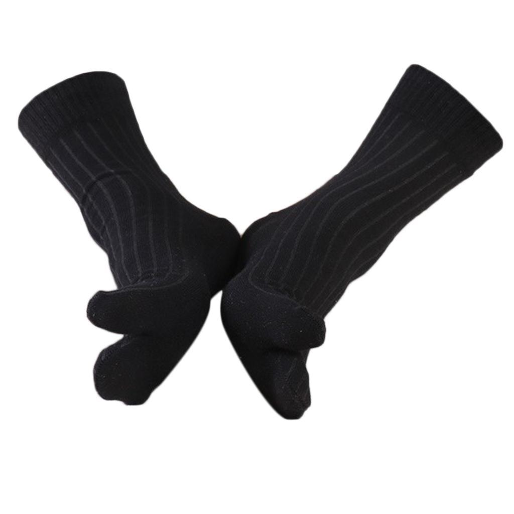 Men-100-Cotton-2-Toe-Socks-Stripes-Tabi-Socks-Hallux-Valgus-Corrector miniature 36