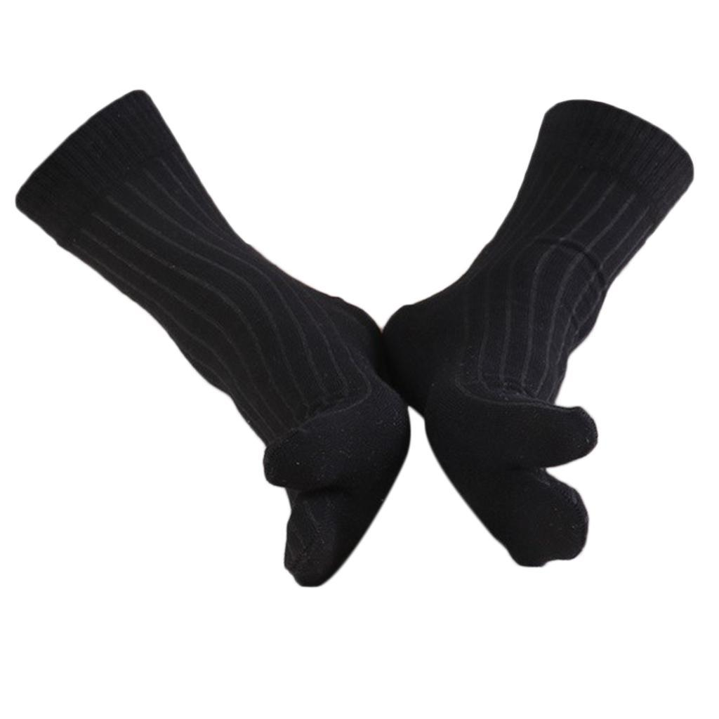 Men-100-Cotton-2-Toe-Socks-Stripes-Tabi-Socks-Hallux-Valgus-Corrector miniature 40