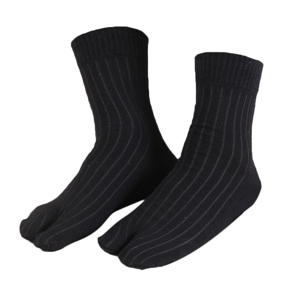 Men-100-Cotton-2-Toe-Socks-Stripes-Tabi-Socks-Hallux-Valgus-Corrector miniature 42