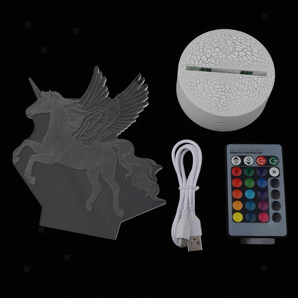 5V-Unicorn-Night-Light-Acrylic-Visual-Lamp-Touch-Control-Kid-039-s-Room-Decor thumbnail 6