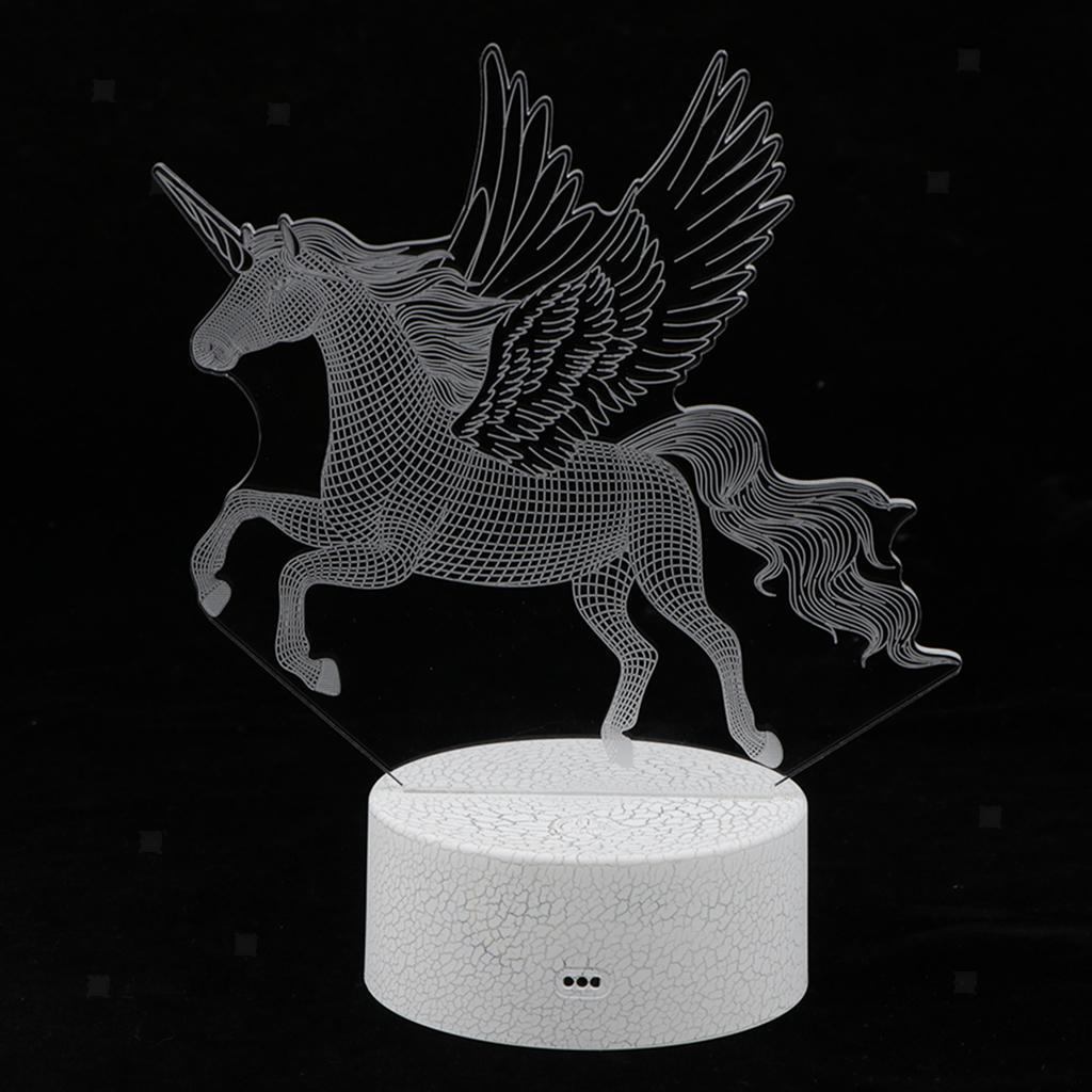 5V-Unicorn-Night-Light-Acrylic-Visual-Lamp-Touch-Control-Kid-039-s-Room-Decor thumbnail 3