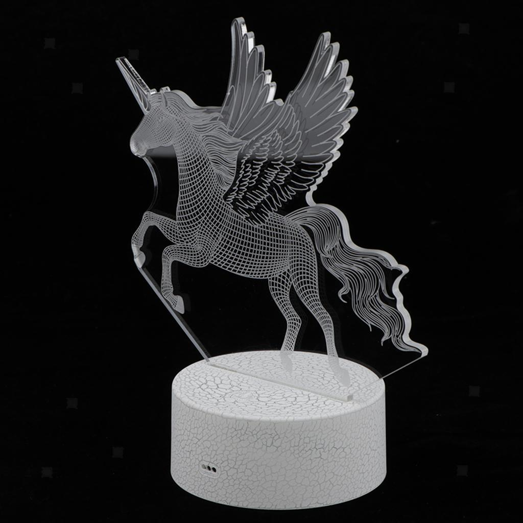 5V-Unicorn-Night-Light-Acrylic-Visual-Lamp-Touch-Control-Kid-039-s-Room-Decor thumbnail 4