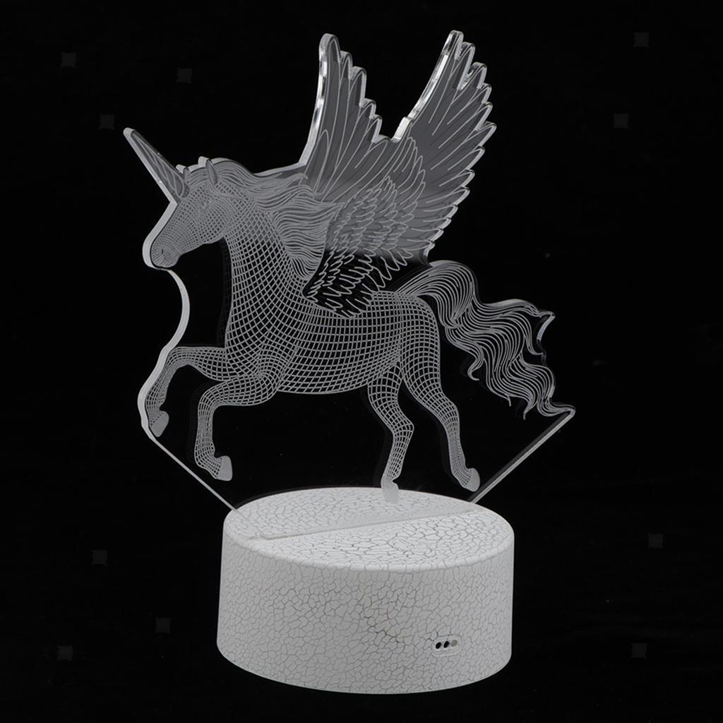 5V-Unicorn-Night-Light-Acrylic-Visual-Lamp-Touch-Control-Kid-039-s-Room-Decor thumbnail 5