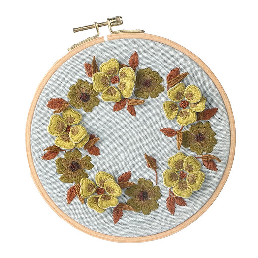 Diy Embroidery Kit Beginner Handmade Flower Butterfly Art Craft Home Decor Ebay