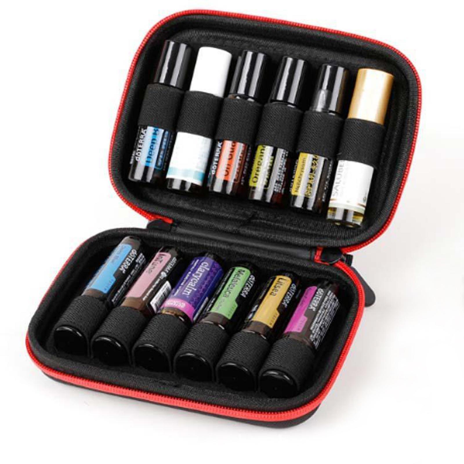 Sacchetto-di-olio-essenziale-custodia-da-viaggio-per-aromaterapia-da-10ml-per-12 miniatura 12