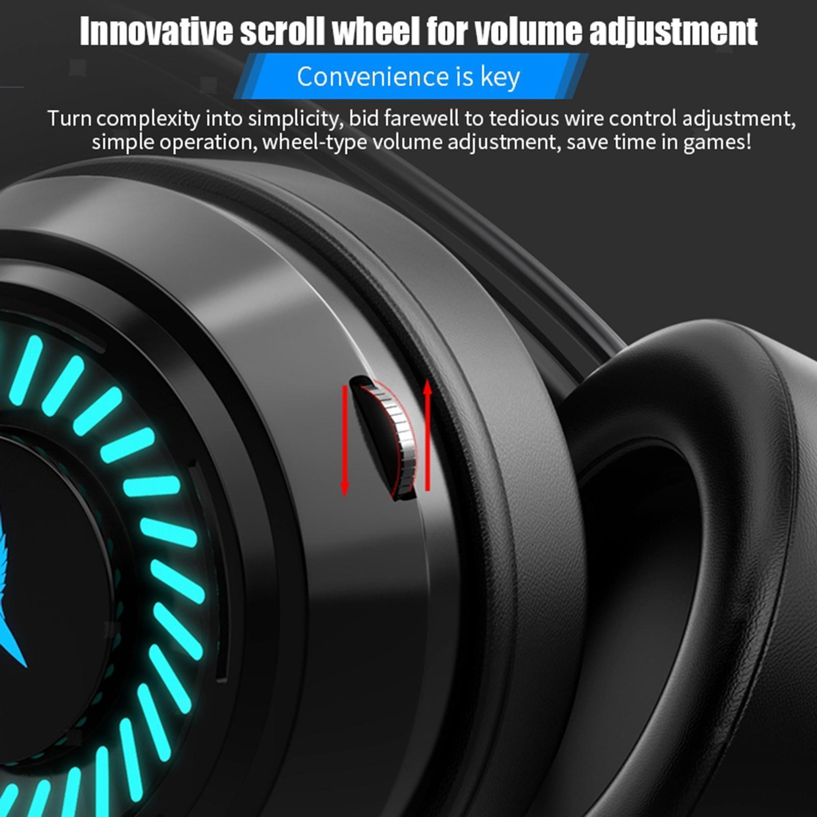 miniature 7 - Confortable Coloré LED   Gaming Headset 7.1 Surround Sound pour PC