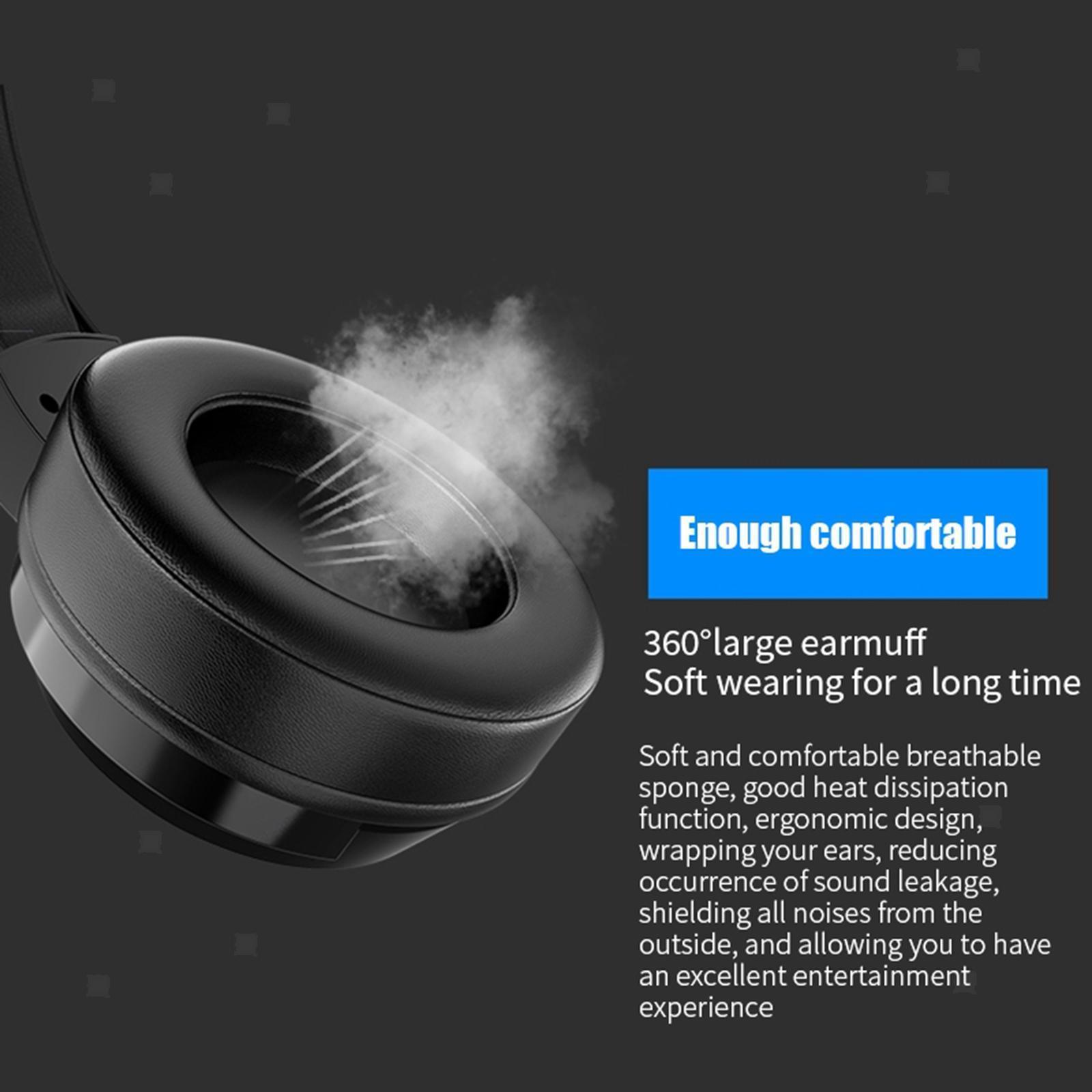 miniature 6 - Confortable Coloré LED   Gaming Headset 7.1 Surround Sound pour PC