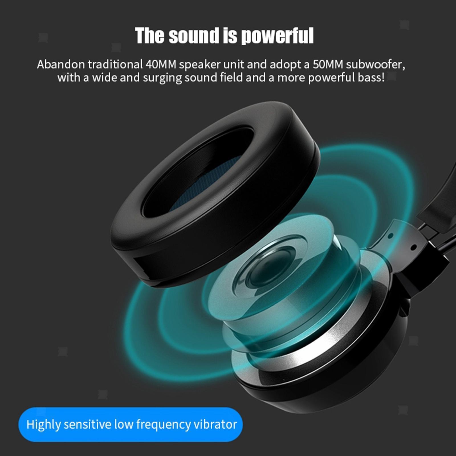 miniature 12 - Confortable Coloré LED   Gaming Headset 7.1 Surround Sound pour PC