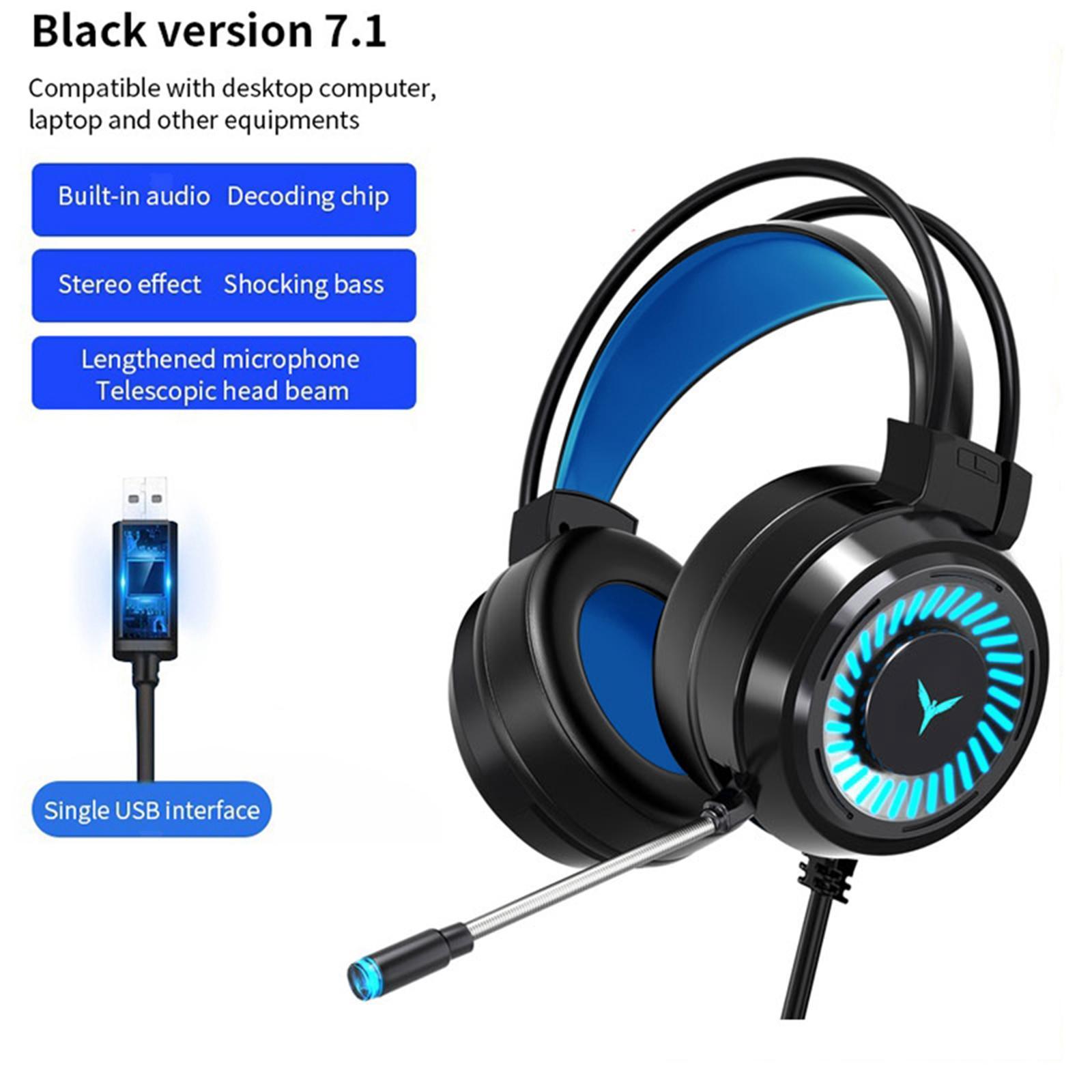 miniature 9 - Confortable Coloré LED   Gaming Headset 7.1 Surround Sound pour PC