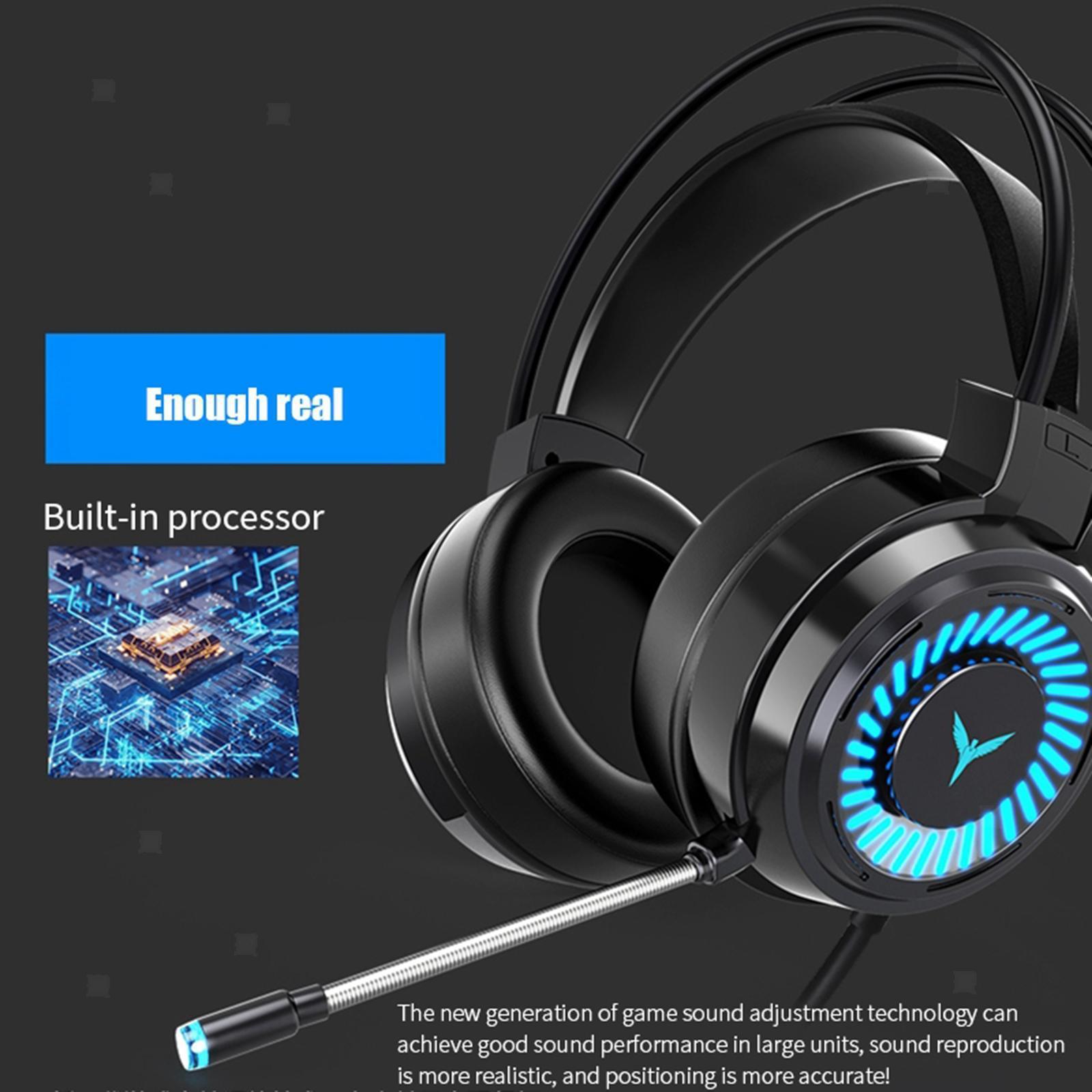 miniature 10 - Confortable Coloré LED   Gaming Headset 7.1 Surround Sound pour PC