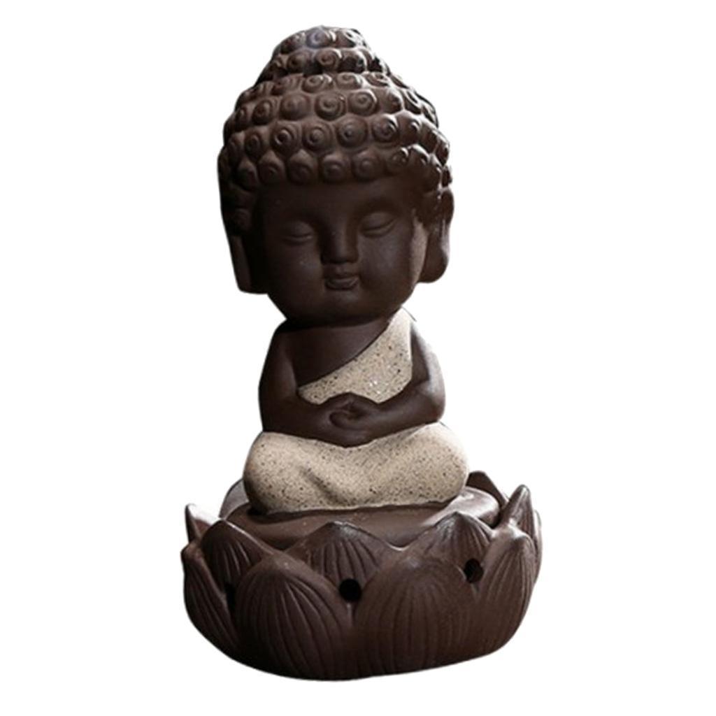 Buddhismus-Moenche-Raeuchergefaess-Keramik-Stick-Kegel-Halter-Rueckfluss Indexbild 9