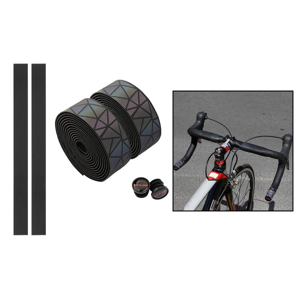 2x-Non-slip-Tape-Road-Bike-Handlebar-Tape-Bicycle-Drop-Bar-Wrap-Outdoor-Sports thumbnail 6