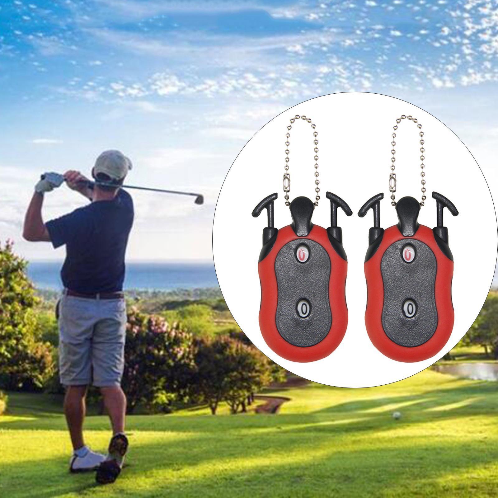Indexbild 22 - 2 Stück Golf Score Zähler 2-in-1 Double Dial Stroke Putt Scorer mit