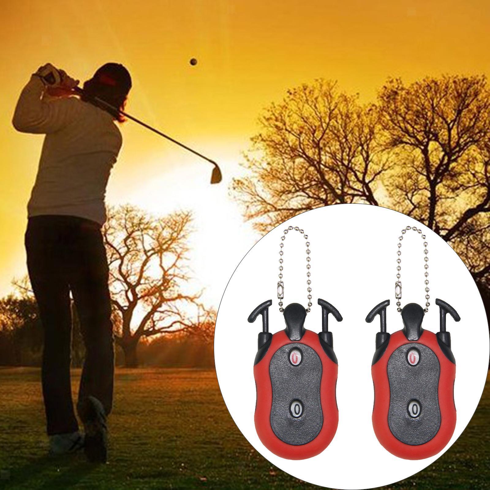 Indexbild 17 - 2 Stück Golf Score Zähler 2-in-1 Double Dial Stroke Putt Scorer mit