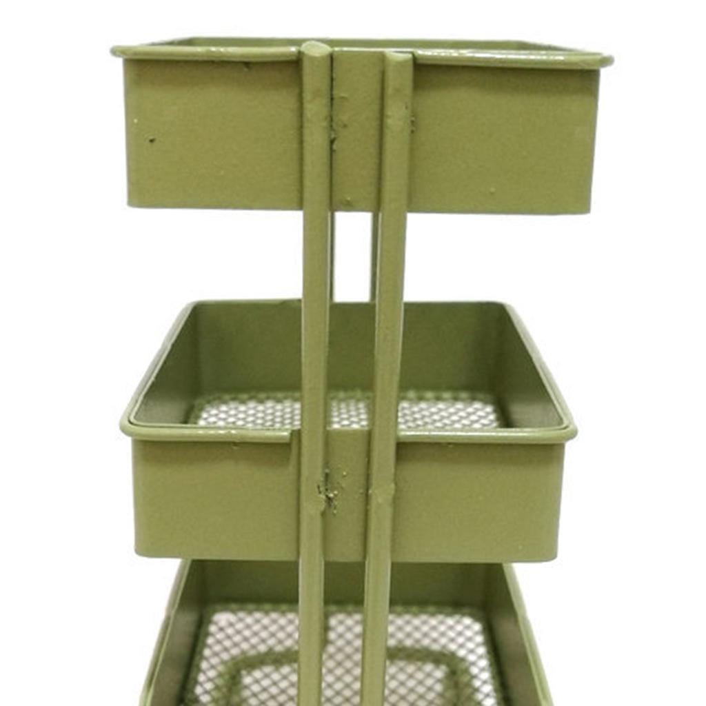 thumbnail 10 - 1:12 Scale 3 Tier Storage Shelf w/ 4 Wheels Dollhouse Furniture Kitchen Room