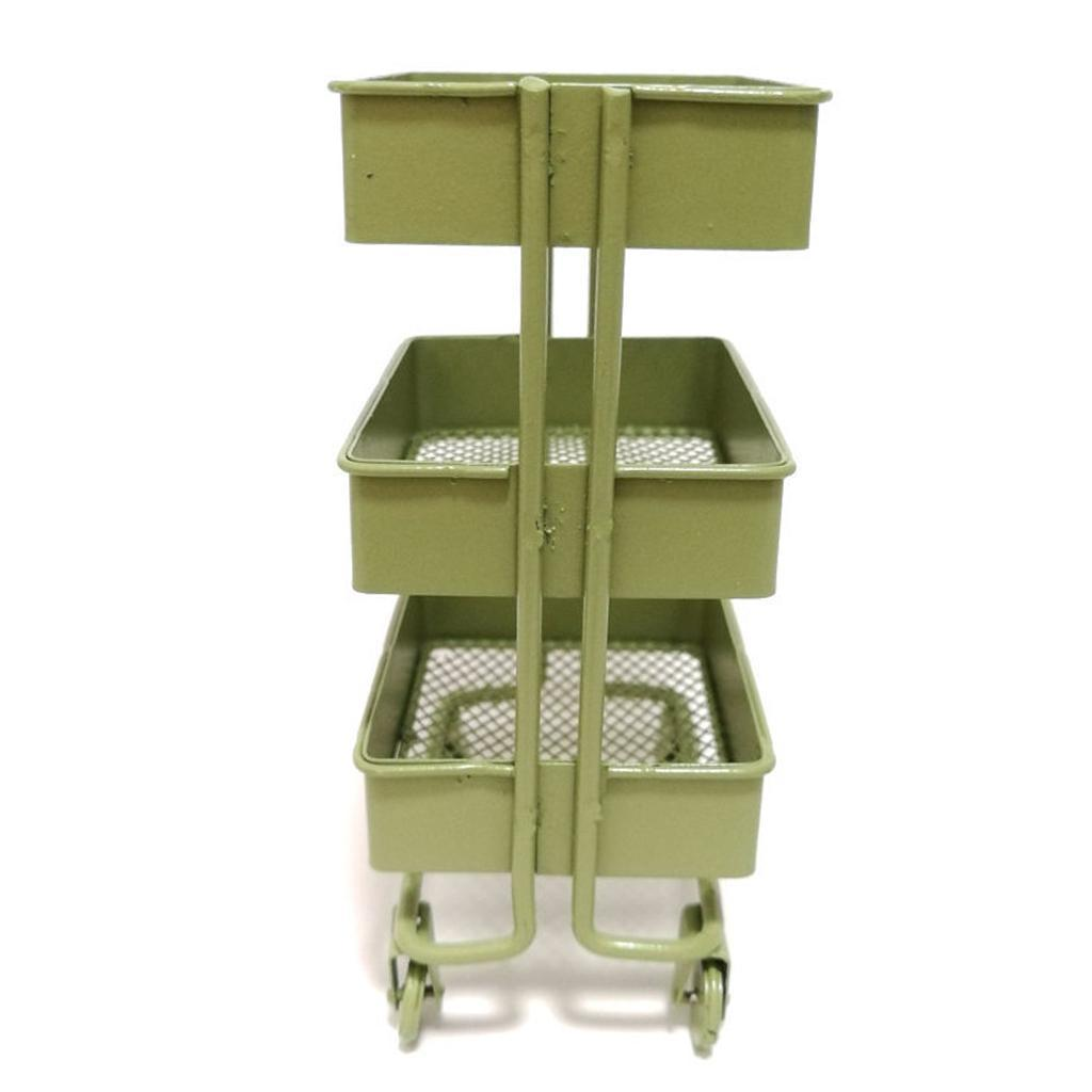 thumbnail 9 - 1:12 Miniature Metal Storage Shelf Display Rack Dollhouse Furniture Decor Accs