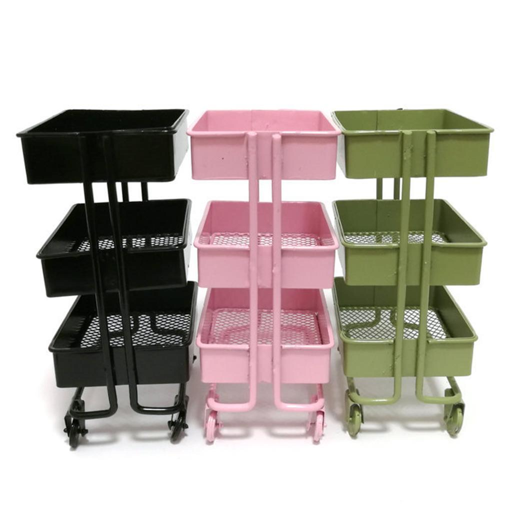 thumbnail 10 - 1:12 Miniature Metal Storage Shelf Display Rack Dollhouse Furniture Decor Accs