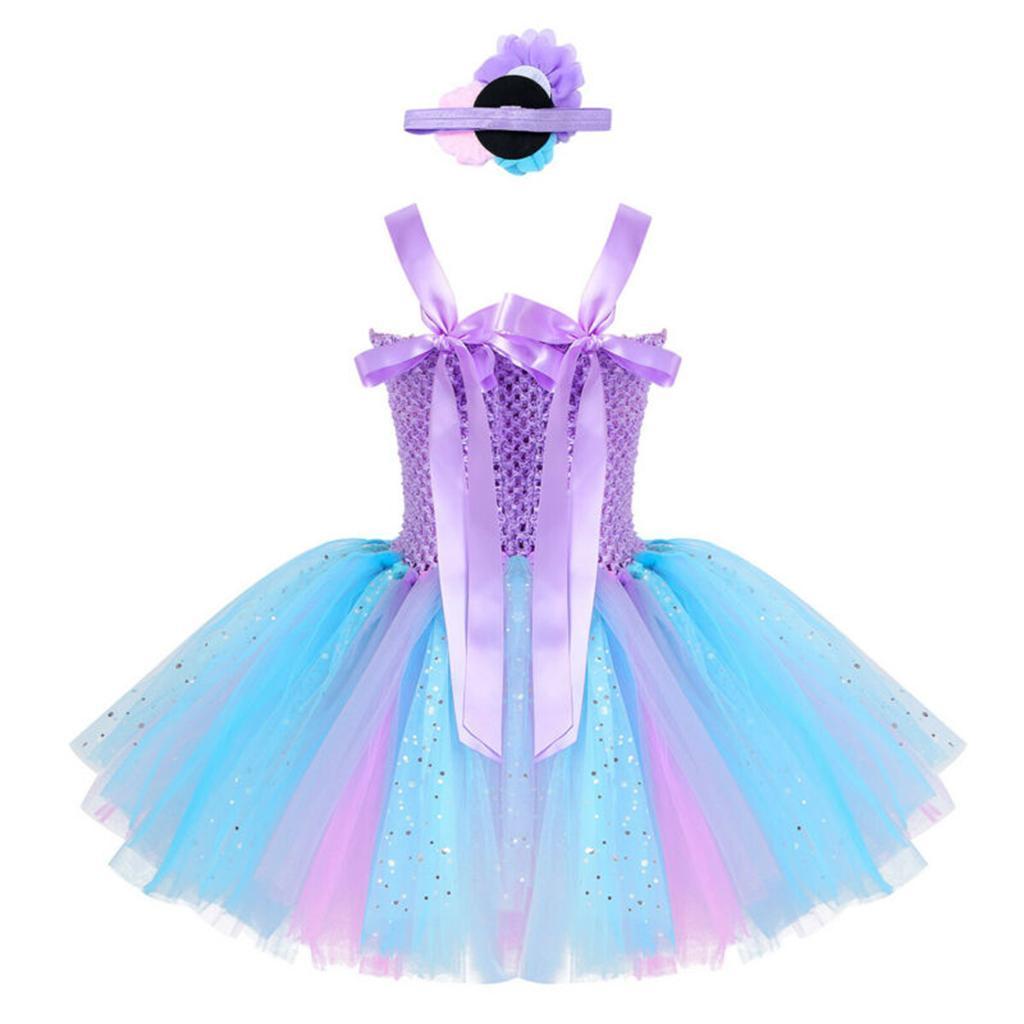 thumbnail 13 - Mermaid Tutu Dress Cosplay Kids Mermaid Costume 3 4 5 6 Years Old