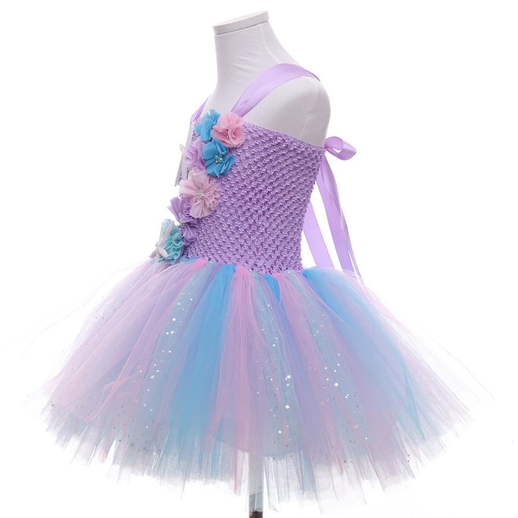 thumbnail 12 - Mermaid Tutu Dress Cosplay Kids Mermaid Costume 3 4 5 6 Years Old