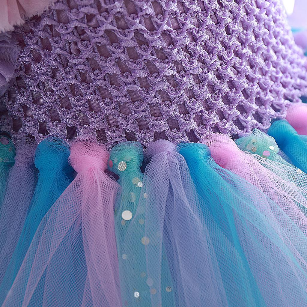 thumbnail 9 - Little Girls Layered Princess Costume Dress up with Hairband Accessories