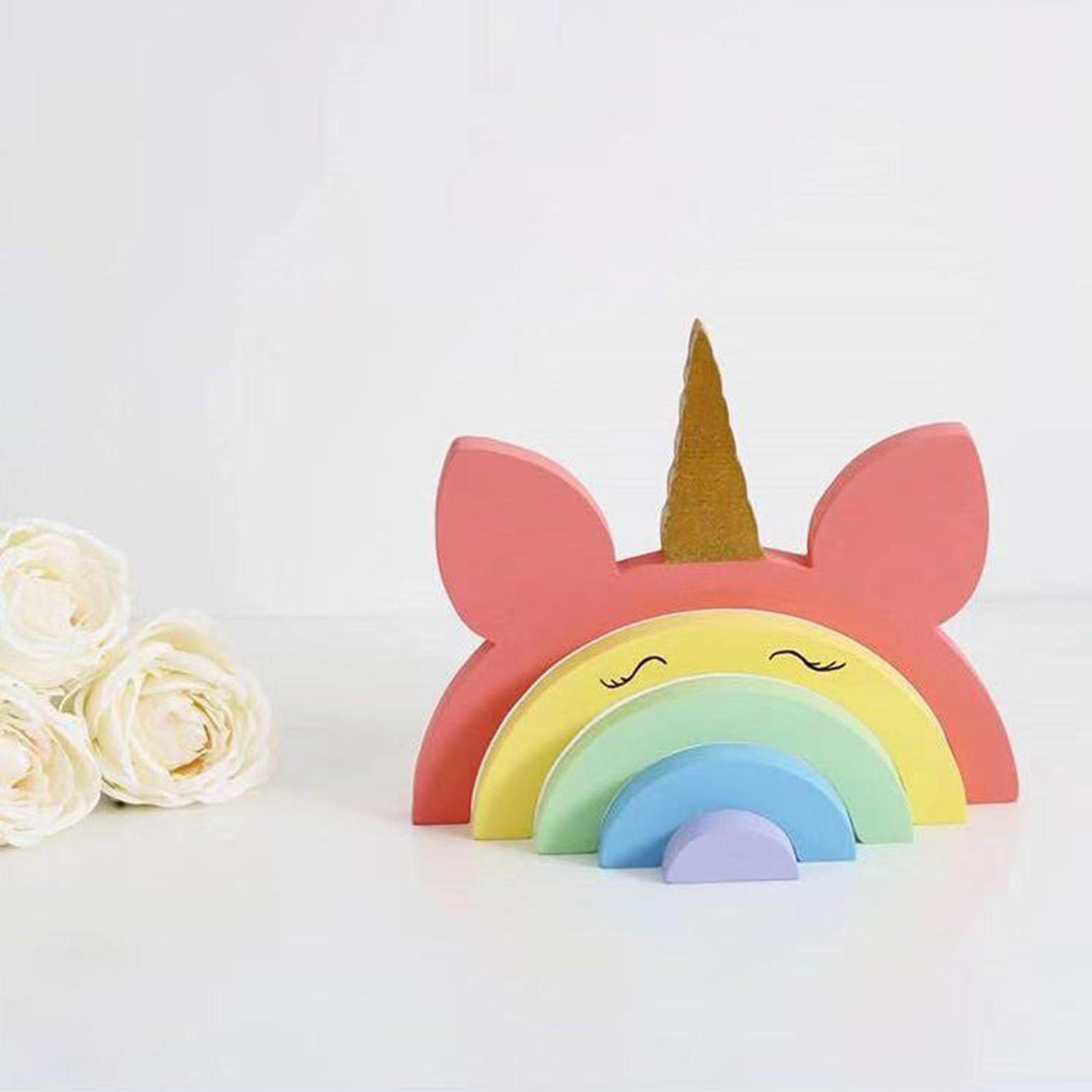 miniature 10 - Blocs de construction d'empilage coloré en bois créatif jouet de bébé Montes
