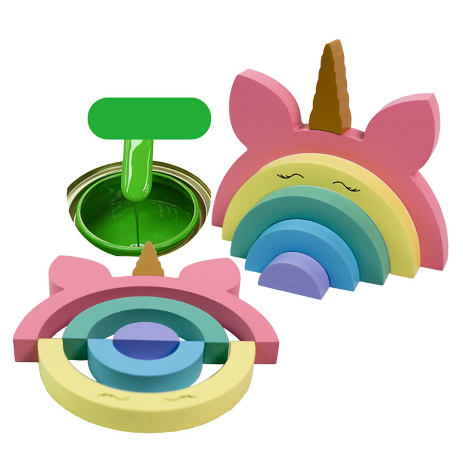 miniature 11 - Blocs de construction d'empilage coloré en bois créatif jouet de bébé Montes