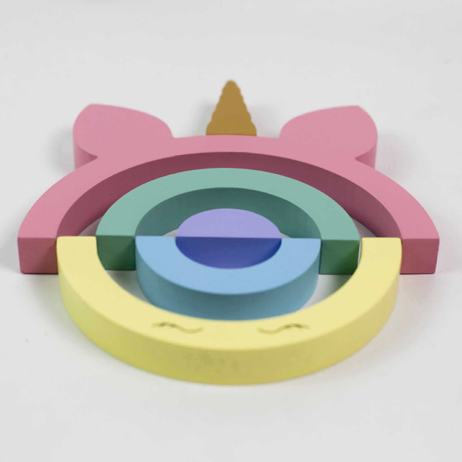 miniature 12 - Blocs de construction d'empilage coloré en bois créatif jouet de bébé Montes