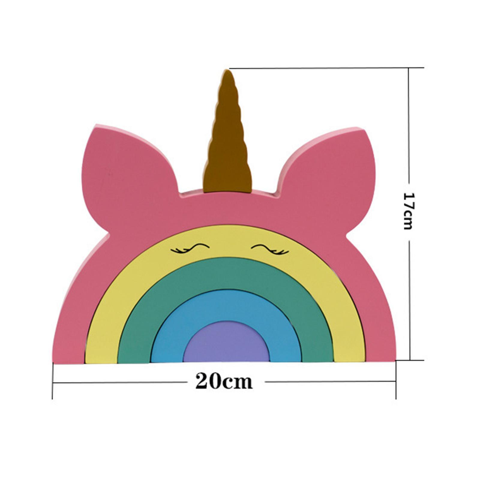 miniature 9 - Blocs de construction d'empilage coloré en bois créatif jouet de bébé Montes