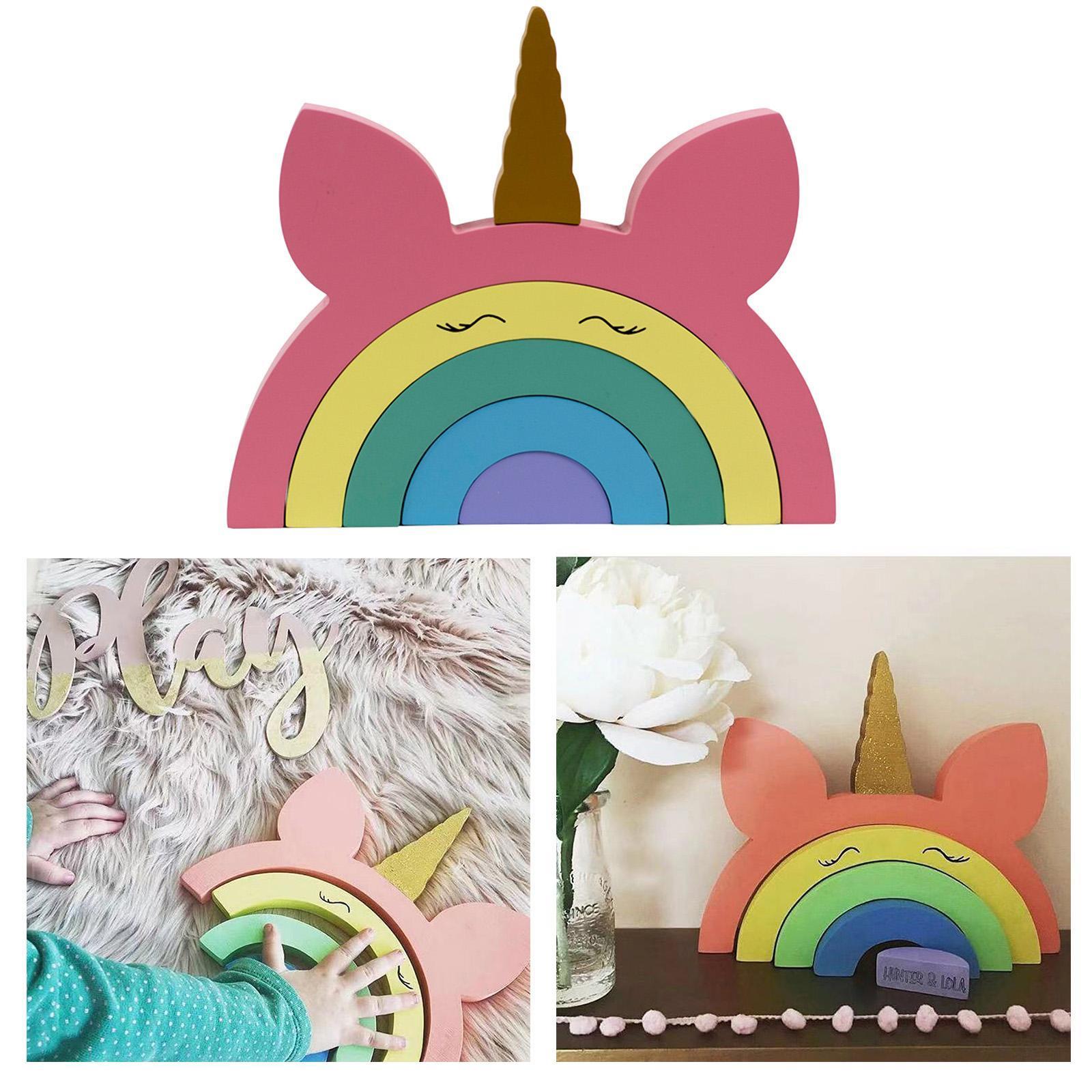 miniature 6 - Blocs de construction d'empilage coloré en bois créatif jouet de bébé Montes